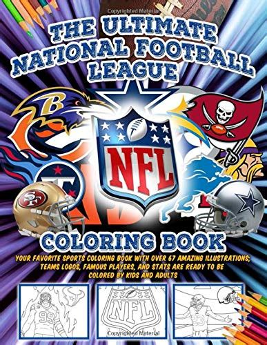 ultimate nfl national football league coloring book