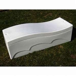 Coffre De Rangement Blanc : coffre de rangement 250 l blanc ~ Nature-et-papiers.com Idées de Décoration