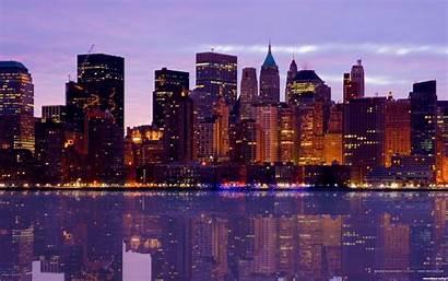 Skyline Wallpapers Desktop Manhattan Widescreen Stadt Resolution