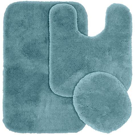 garland rug finest luxury basin blue      washable bathroom  piece rug set pre pc