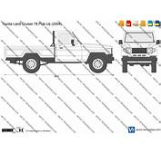 Templates  Cars Toyota Land Cruiser 78 Pick Up