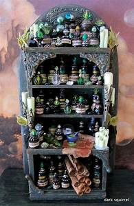 Condiments Cabinet Design Pagan Crafts Pretty Feb Decorative Jars Witch Potion Halloween Apothecary Miniatures