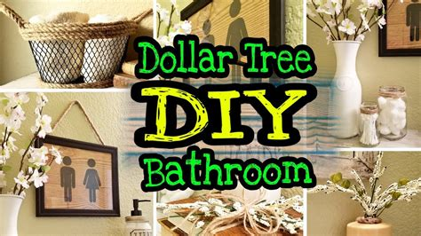 dollar tree farmhouse diy bathroom decor youtube