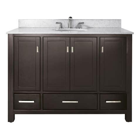 Bathroom Vanity 48 Inch Sink by 48 Inch Single Sink Bathroom Vanity In Espresso With