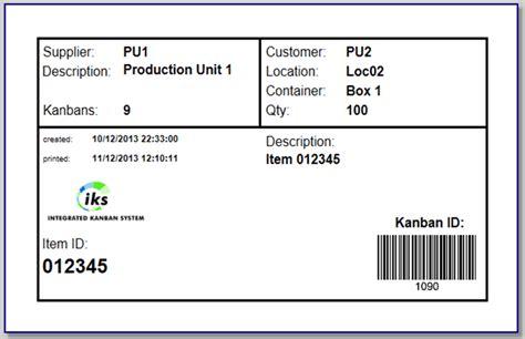kanban card kanban system and pull