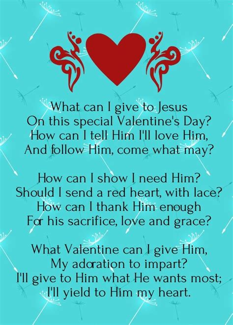 Christian Valentine Day Poems