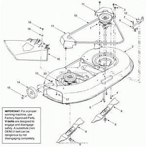 Troy Bilt Pony 42 Deck Belt Diagram
