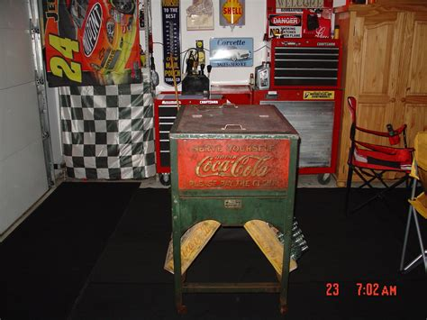 Original 1929 Glasscock Coke Cooler...made In Muncie