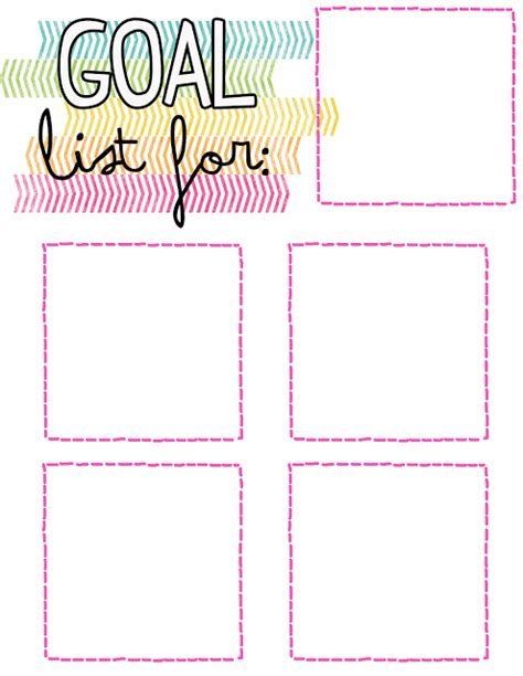 goal list template happiness and spirituality