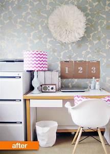 Before & After: Viv's Home Office Wallpaper Makeover ...