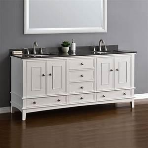 Cambridge, 72, U0026quot, White, Double, Sink, Vanity