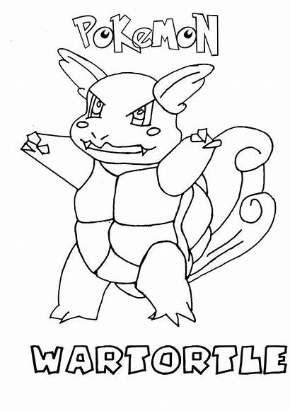 Coloring Pokemon Water Pages Wartortle Type Rzr