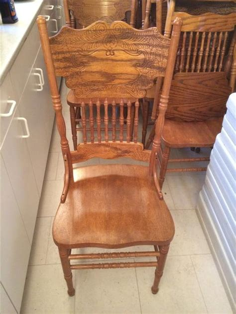 solid oak dining chairs outside nanaimo parksville