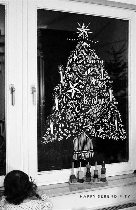 Fensterdeko Weihnachten Diy by Diy Opulente Weihnachtliche Fensterdeko Mit Kreidemarker