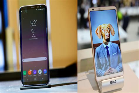 samsung galaxy s8 vs lg g6 comparison review of specs features and more