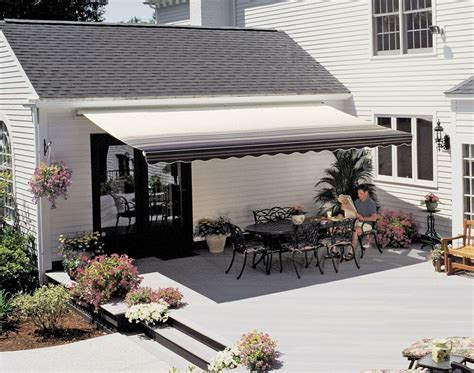 sunsetter motorized retractable awning outdoor awnings shade deck patio ebay