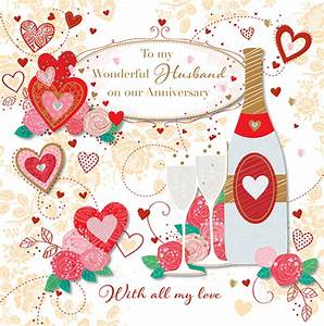 to my wonderful husband wedding anniversary greeting card With images of wedding anniversary cards for husband