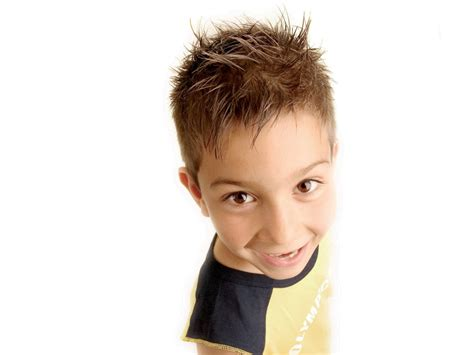 Short Spiky Hairstyle For Boys, With The Sides Cut Super Short