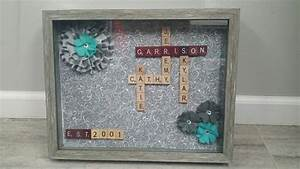 scrabble tile name display my diy crafts pinterest With scrabble letters for crafts hobby lobby