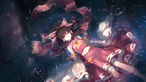 wallpaper engine anime sleeping anime water touhou hakurei reimu detached