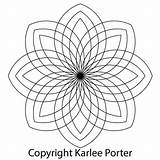 Medallion Karleeporter Coloring Sided Eight Designs Paisley Mandala Porter Karlee Digital sketch template