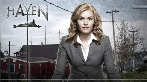 Emily Rose Golden Hair In Haven Wallpaper