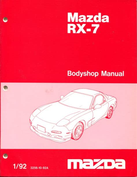 free service manuals online 1995 mazda rx 7 parental controls rx7 body shop manual service repair mazda rx 7 book turbo fd r1 1992 2002 ebay