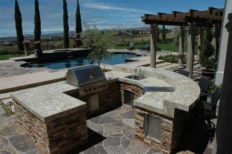 outdoor barbecue areas outdoor barbeque and kitchen landscape design