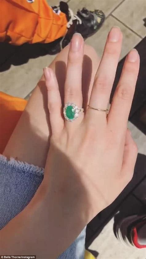 thorne flashes emerald engagement ring from mod sun