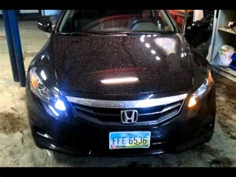 honda accord 2010 hid lights 2011 honda accord coupe hid switchback led lights youtube