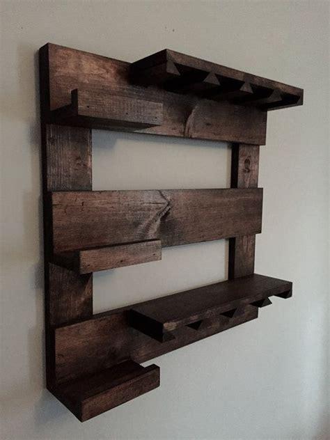 wine rack rustic wood wine holder reclaimed wood wall