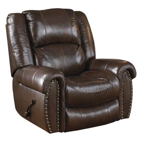 catnapper leather power lay flat recliner in