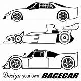 Race Cars Clip Coloring Pages Cliparts Racecar sketch template