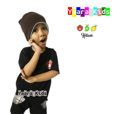 jual baju anak laki laki yaarakids hitam  lapak