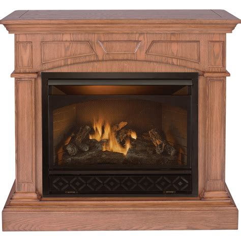 gas fireplace mantel gets procom dual fuel vent free fireplace and mantel 32 000