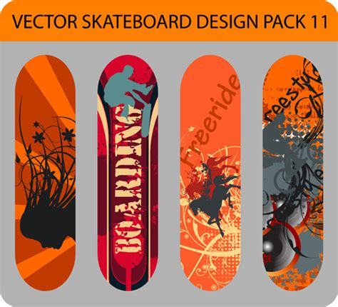skateboard vector images  vector