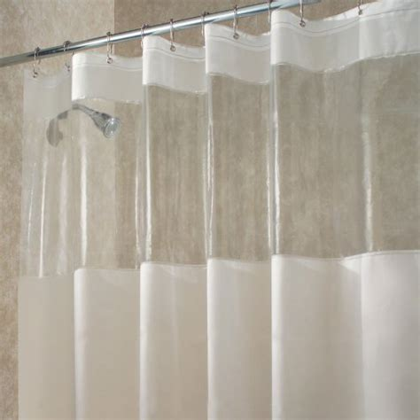 interdesign hitchcock shower curtain stall 54 x 78 clear new