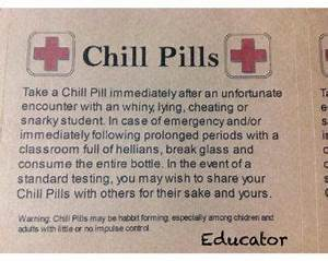 chill pill for various themes glass apothecary jar funny With chill pills label printable