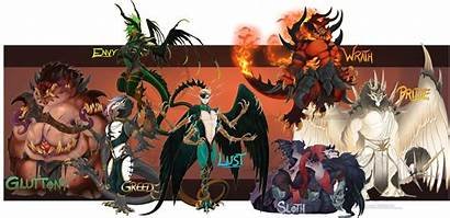 Deadly Sins Character Designs Halloween Main Auction
