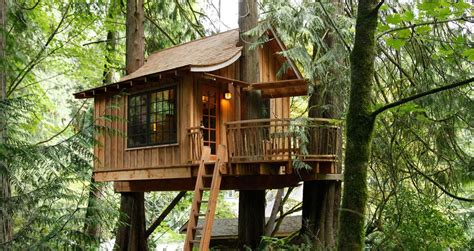 Treehouse Point, A Nature Hideaway Near Seattle, Washington