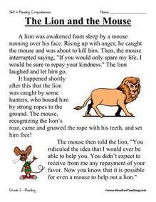 reading and comprehension reading comprehension worksheet the and the mouse