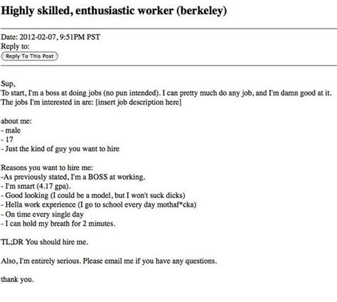 25 funniest resumes of all time the 20 funniest resume fails of all time pophangover