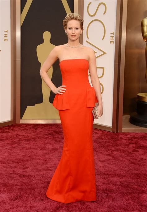 Jennifer Lawrence At 86th Annual Academy Awards In