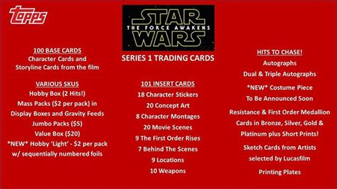 trading card topps journey to the awakens