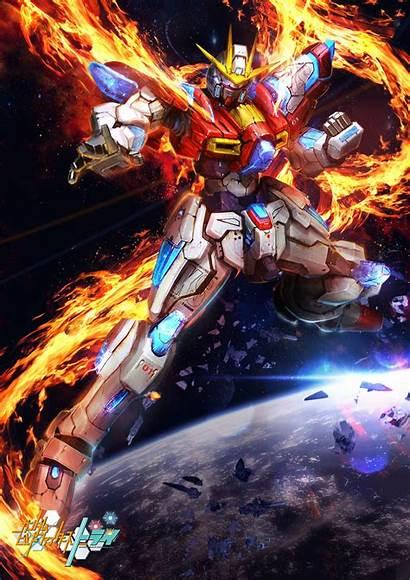 Gundam Burning Try Gunpla Poster Hobby Kits