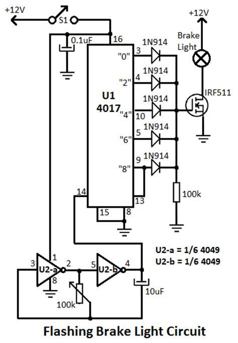 brake light for motorcycles circuit