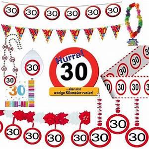 30 Dinge Zum 30 Geburtstag : geburtstagsdeko 30 geburtstag verkehrsschild party ~ Sanjose-hotels-ca.com Haus und Dekorationen