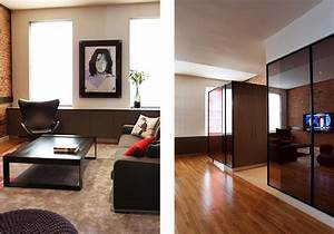 Mur Brique Salon : salon noir mur brique ~ Zukunftsfamilie.com Idées de Décoration