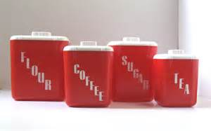 Red Canisters Kitchen