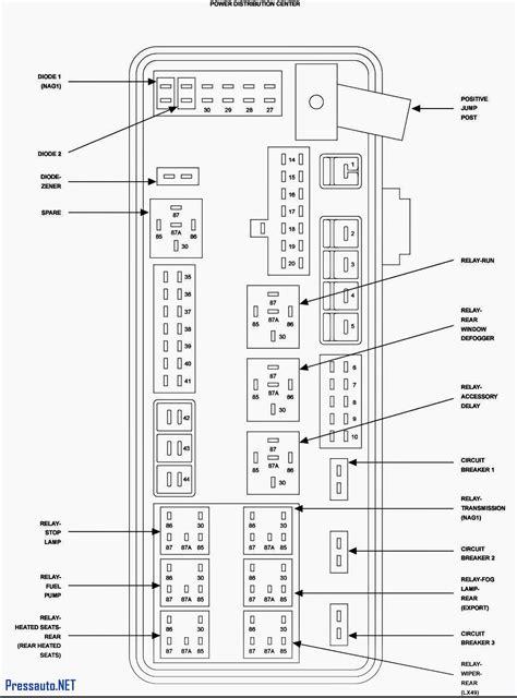 Fuse Panel Diagram 2006 Chrysler 300 by 2006 Charger Fuse Box Wiring Library